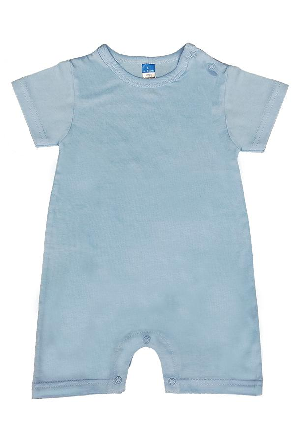 Baby Vintage Cotton Rompers - Sky Blue