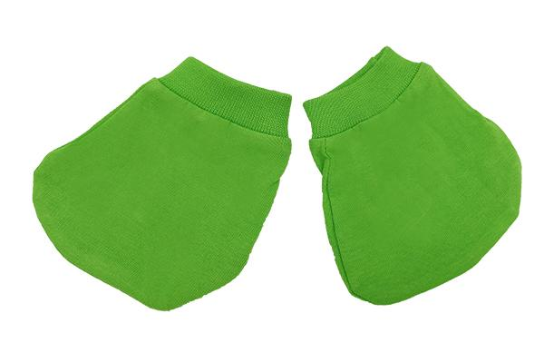 Baby FullyCombed Cotton Booties Apple Green