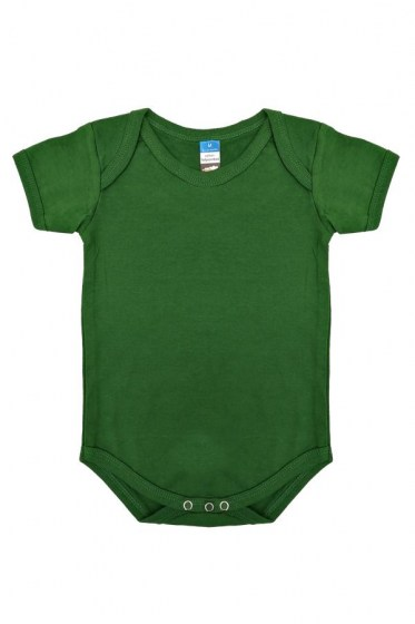 Baby Value RIB Rompers Bottle Green