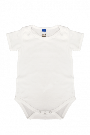 Baby Double Fullycomb Romper White