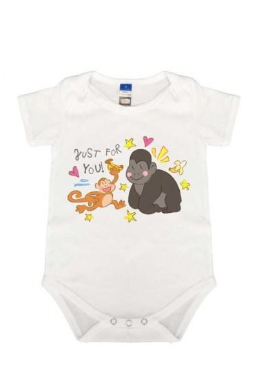 Monkey Just For You - Rompers White