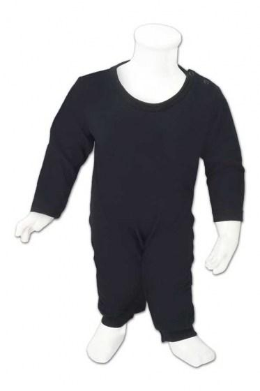 Baby Basic Fullycombed Jumpsuit - Black