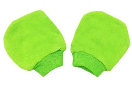 Baby Basic Cotton Mittens Apple Green