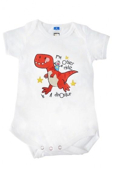 My Other Ride Is a Dinosaur Baby Rompers White