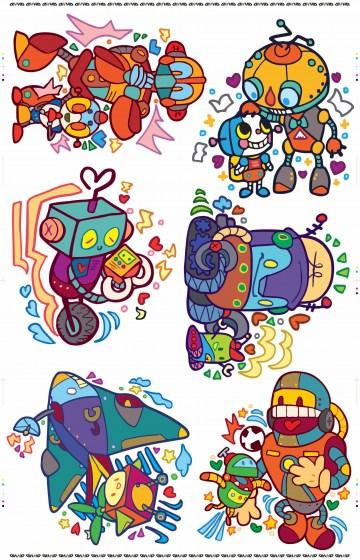Robot Family Series HD Print